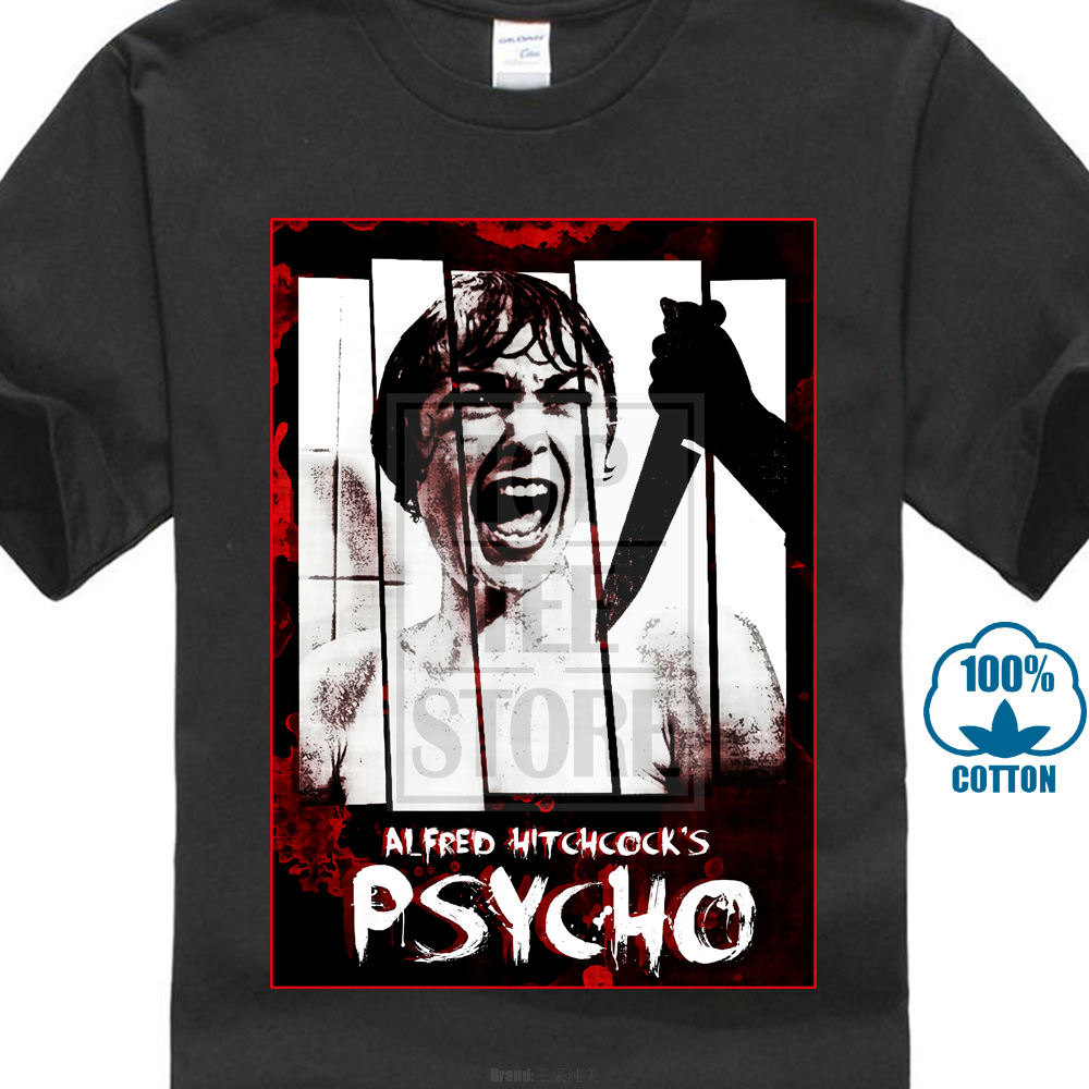 Psycho Alfred Hitchcock Classic Horror Movie Art Men'S T Shirt Size S To 4Xl image