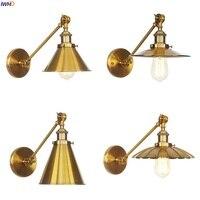 Luz de Pared LED de brazo largo de oro  lámpara de Pared de estilo Industrial y Vintage para dormitorio junto a la escalera  lámpara de Pared Edison|Lámparas LED de pared de interior| |  -