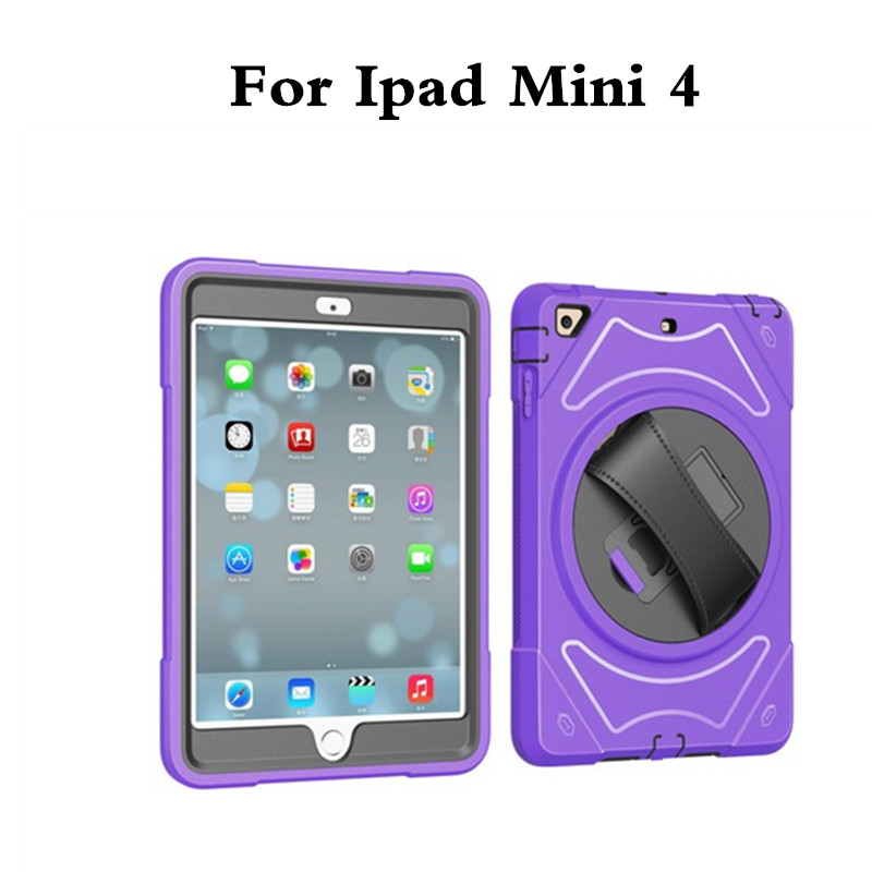 3-Layer Armor Hybrid Shockproof Hand held Case for Apple iPad Mini4 Mini 4 7.9'' Tablet Protective Heavy Duty Rugged Stand Cover школа семи гномов английский язык школа семи гномов английский алфавит
