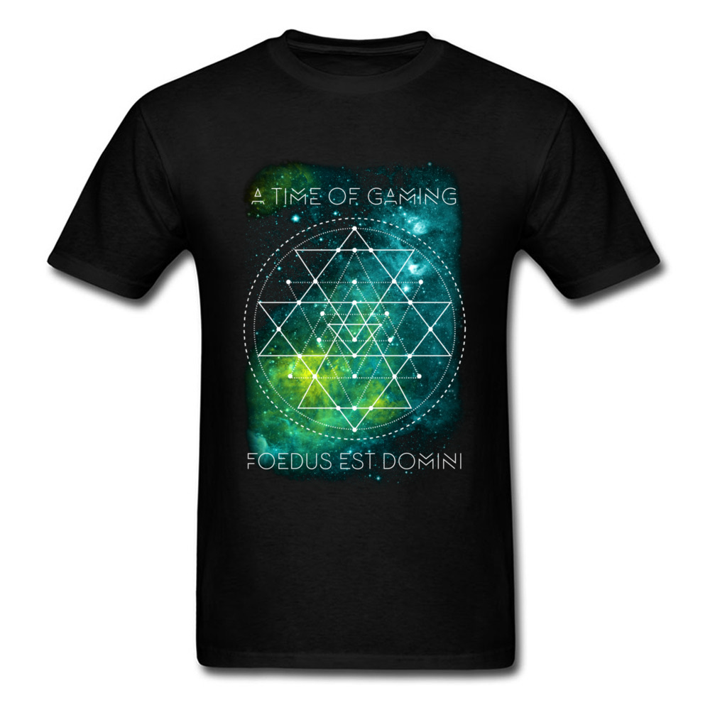 Fabulous Cool T-shirt A Time Of Gaming Men T Shirt Galaxy Logo Print Unfading Breathable Cotton Cartoon Tops Plus Size ...