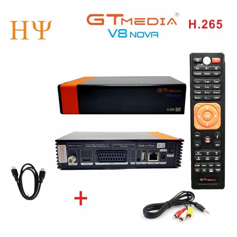 2PCS Lot GTmedia V8 Nova DVB S2 Satellite receiver Support H 265 Cccam Newcamd power vu
