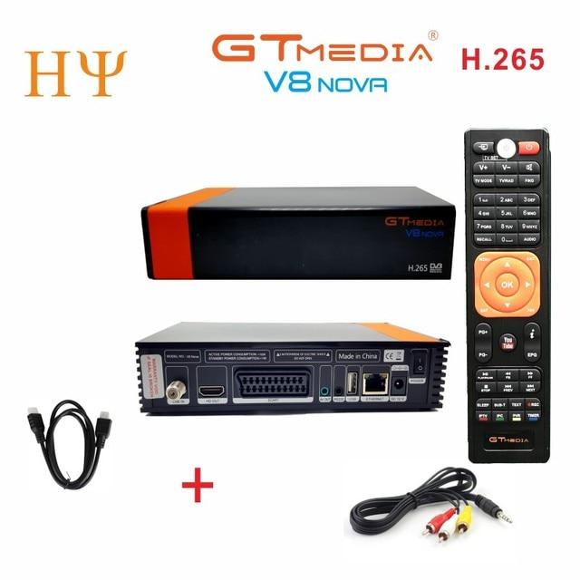 2PCS/Lot GTmedia V8 Nova DVB-S2 Satellite receiver Support H.265 Cccam Newcamd power vu better freesat v8 super V9 super