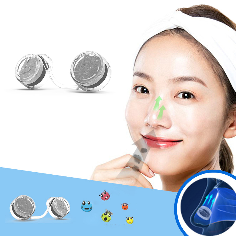 2 Pairs Frame+2 Pairs Filter Invisible Pollen Allergy Nose Filter PM2.5 Dust N95 Breathable Stealth Nasal Filter Mouth Air Mask airborne pollen allergy