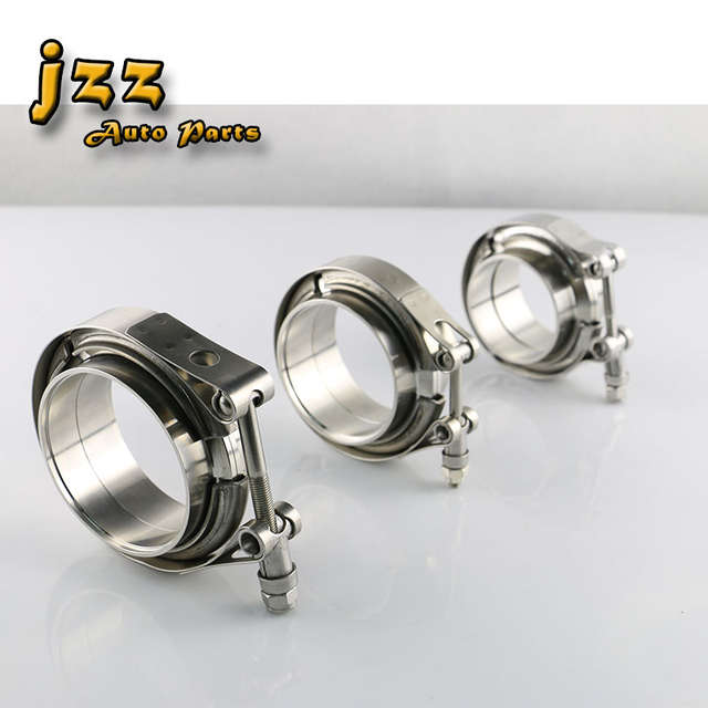 2 Inch JEM/&JULES New Stainless Steel Exhaust V Band Clamp Male Female Flange