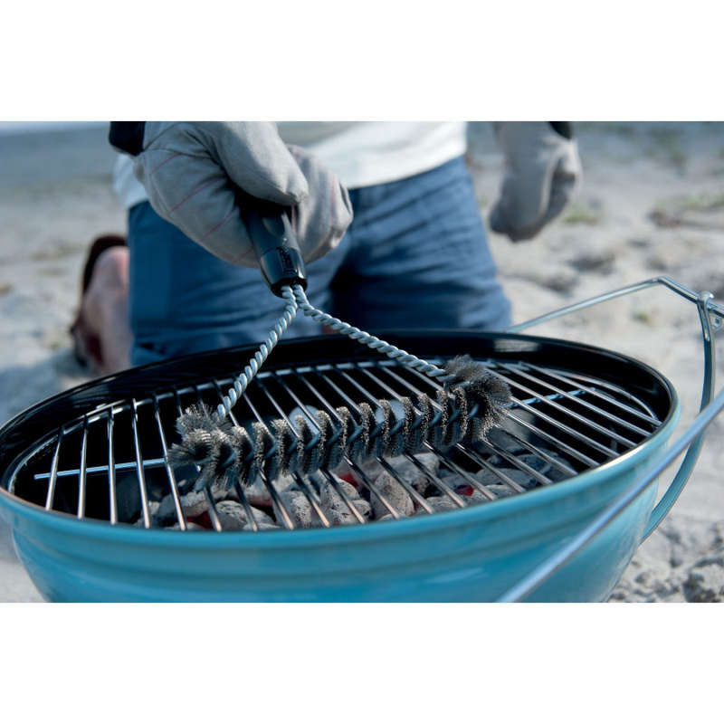2017 Stainless Steel Barbecue Grill Cleaning Brush Wire Cleaner Outdoor BBQ Clean Tool Accessories with Handle