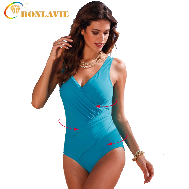 2017 One Piece Swimsuit Plus Size Swimwear Women Retro Vintage Monokini Large Size Beach Bathing Suit Swim Wear 5XL