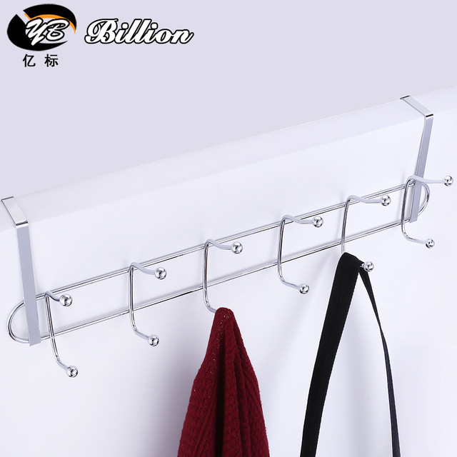 Kitchen 6 Hooks Clothes Coat Hooks Over Door Rack Bathroom Kitchen Bedroom  Towel Hanger Hanging Loop