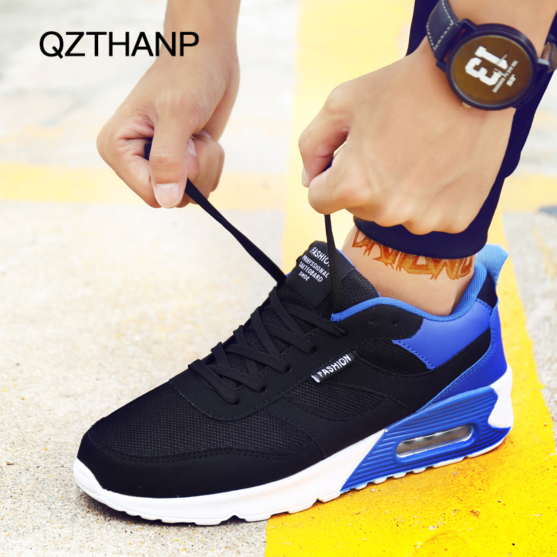 2018 Classic Casual Shoes Chaussure Homme Men's Mesh Breathable Air Cushioning Adult Zapatos Hombre Male Spring Tenis Krasovki spring ultra light mens shoes men casual leather mans footwear zapatos hombre presto lace up breathable air chaussure homme 95