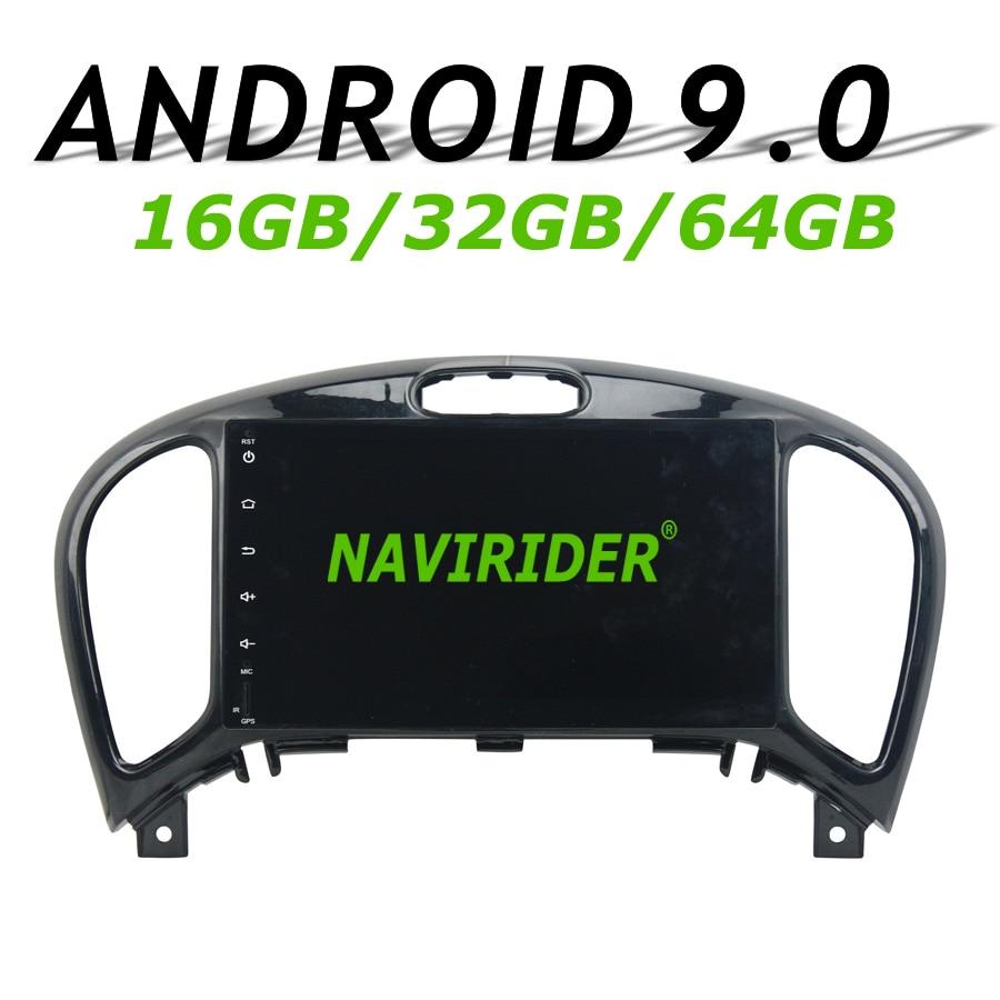 Haute configuration Octa Core Android 9.0 voiture GPS pour NISSAN JUKE 2014-2016 navigation autoradio bluetooth 64 GB grande mémoire