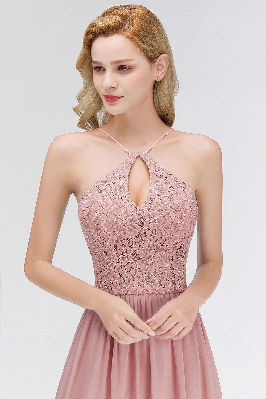 Женское шифоновое вечернее платье без рукавов с глубоким вырезом