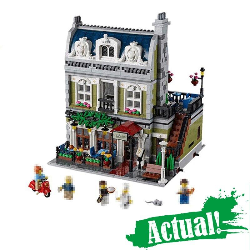 где купить LELE 30007 Parisian Restaurant Creator Architecture Building Blocks Bricks Toys For Boys oyuncak Compatible with legoINGly 10243 по лучшей цене