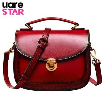 2017 Luxury Handbags Women Bags Designer Geniune Leather Vintage Shoulder Bag for Women Fashion Women Handbag