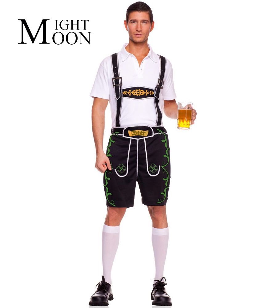 moonight men halloween costumes adult oktoberfes costumes men beer