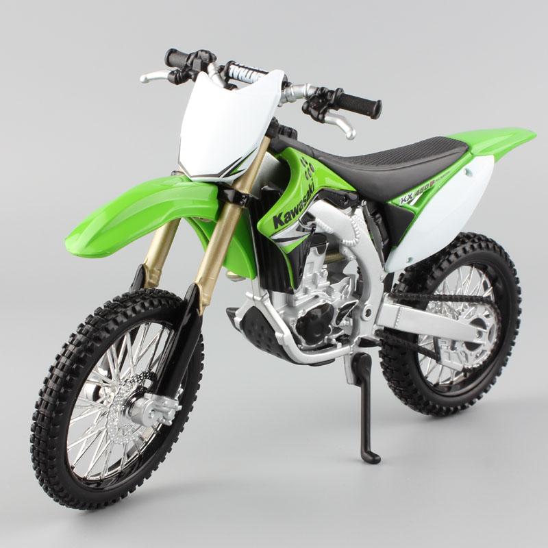 1/12 Maisto KAWASAKI KX450F Dirt Motocross Enduro Bike Scale Motorcycle Toys Diecast Model Race Car Miniature AMA Supercross GP