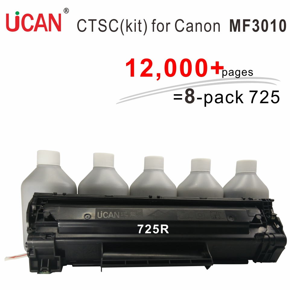 UCAN CTSC kit Cartridge 725 compatible Canon MF 3010 MFP printer 12000 pages is ordinary' 8 times