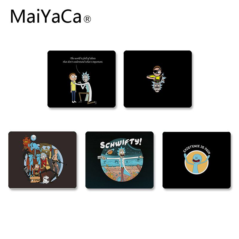 MaiYaCa Rick And Morty Small Gaming MousePads Desk Mat Non-Slip Laptop Computer PC Gaming Mouse Mat Mouse Pad Gamer Desk Mat