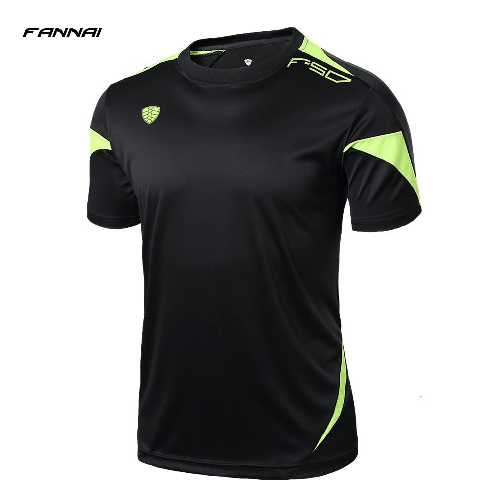 Hot New 2019 Men Fitness Designer Soccer Jerseys T Shirt Sports Quick Dry Slim Fit Breathabl