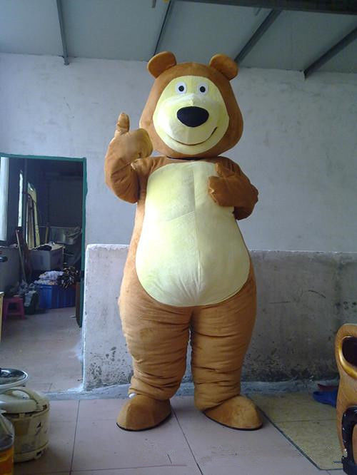 Costume d'ours dessin animé mascotte robe adulte Halloween fête Cosplay Animal tenue us