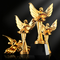 Free Customization Dancing Trophy Ballet Oscar Statuette Dance Match Trophies And Awards Exquisite Gift Box Packaging Decoration