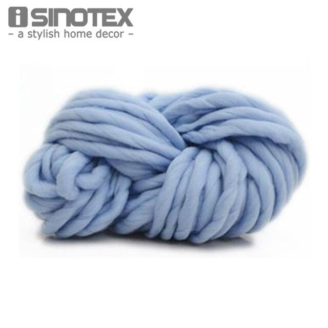Super gruesa DIY Hilado Hilos suave lana Roving voluminoso grande ...