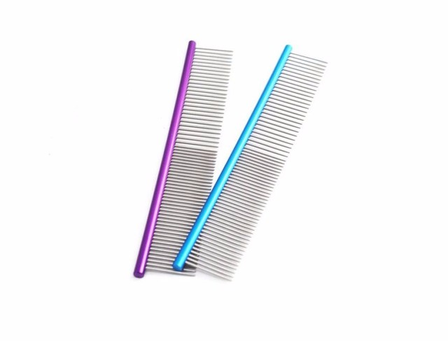 Stainless Steel Multicolor Long Comb for Pets