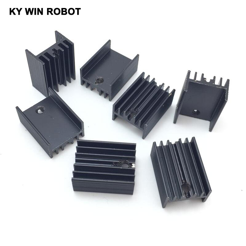 50pcs Aluminium TO-220 Heatsink TO 220 Heat Sink Transistor Radiator TO220 Cooler Cooling Black 20*15*10MM
