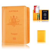 Australia Passport Holder PU Leather Passport Covers for Australian Men Women AU Passports Travelling Document Organizer цены