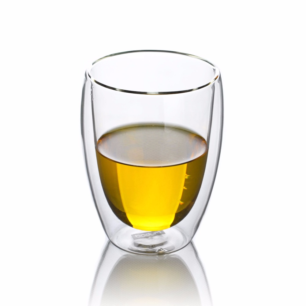 4pcs/lot 300ml Heat-Resisting Glass Double Wall Layer Wine Water Egg Shape Cup Crystal Beer Drink Mug - Tea Coffee Cup