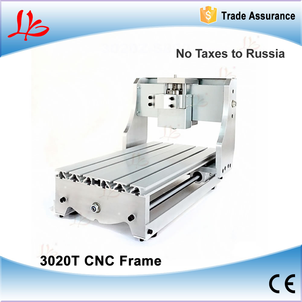 No Tax to Russia & Ukraine, DIY mini cnc router frame 3020T CNC machinery parts with trapezoidal screw for CNC wood router cnc router wood milling machine cnc 3040z vfd800w 3axis usb for wood working with ball screw