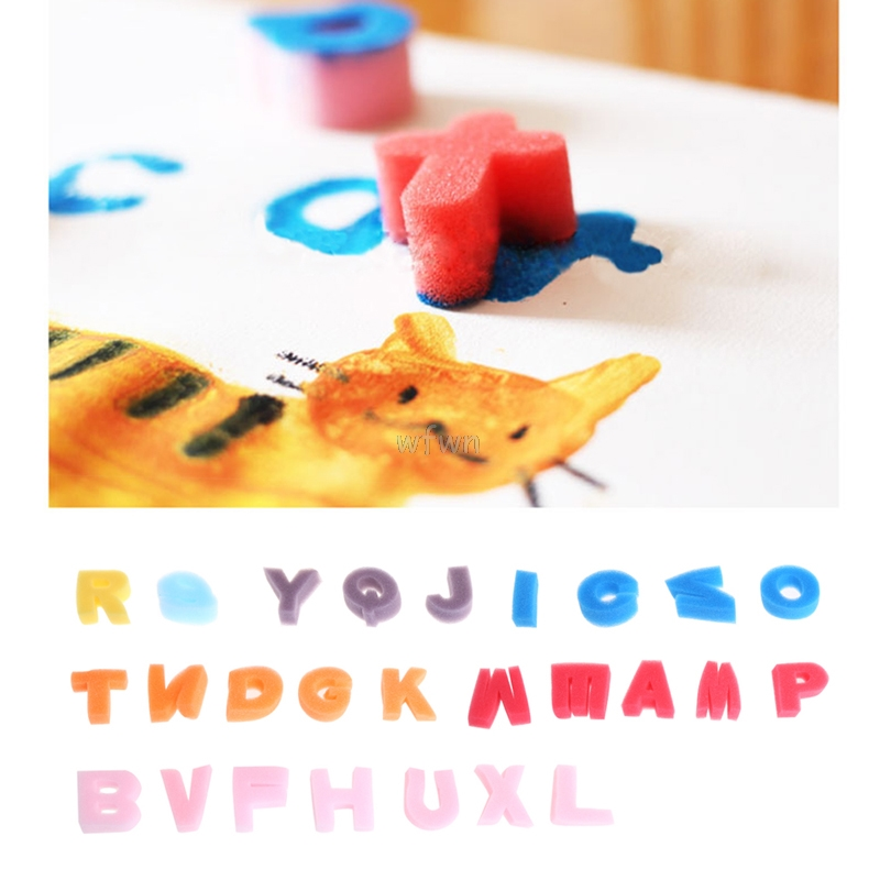 Alphabet Shaped Sponge 26 Letter Set Children Kids Craft Painting Toy Education MAY07 dropshipping