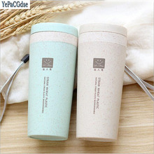 300ml Creative portable Wheat stalks Thermos Cup Double -layer Vacuum Flask Insulated Tumbler cup Thermal Bottle for