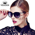 VEGOOS Óculos De Sol Das Mulheres Óculos de Sol De Vidro Marca Designer de Luxo Borboleta Padrão de Pontos Do Vintage Retro Uv400 Oculos de sol #9043