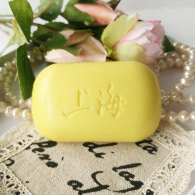 Cheapest Hotest 85g Shanghai Sulfur Soap 4 Skin Conditions Acne Psoriasis Seborrhea Eczema Anti Fungus Bath Healthy Clean