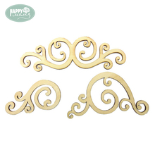 3 styles mixed auspicious clouds Wood Shapes DIY Craft Laser Cut Craft Embellishment for DIY Decorations