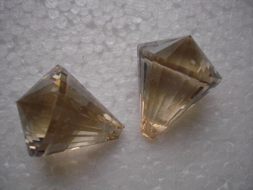 20pcs/lot 30mm cognac crystal prism parts diamond ball DIY door curtain glass ball wedding chandelier ball free shipping