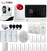 SmartYIBA WIFI APP Control Home Appliance Relayout GSM Alarm System IP Camera Pet Immune PIR Smoke