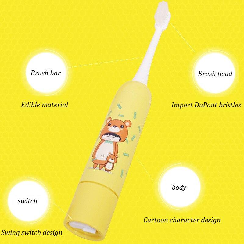 Électrique teethbrush Orale De Nettoyage Soins Infirmiers Enfants de Électrique Souple brosse Brosses À Dents À Ultrasons Brosse À Dents bébé brosse à dents dans Brosses À Dents électriques de Appareils ménagers