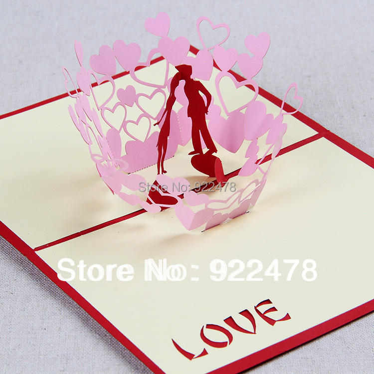 New Diy Handmade Creative Albums Romantic Souvenir: Creative 3D Kiss Of Love Romantic Handmade DIY Valentine's