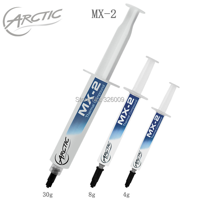 100% Genuine Original ARCTIC MX-2 4g 8g 30g Thermal Compound Grease Paste Pad Conductive Silicone Cooler For Computer CPU
