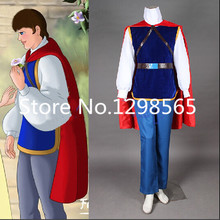 Cuscosplay Fairy Tale Snow White Seven Dwarfs Prince Cosplay Uniform Suit Men