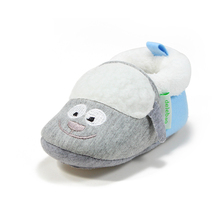 Delebao Fashion Design Lovely Gray Dog Pattern Infant Toddlers Baby Boy & Girl Soft Sole Casual Shoes Only Shipped To US