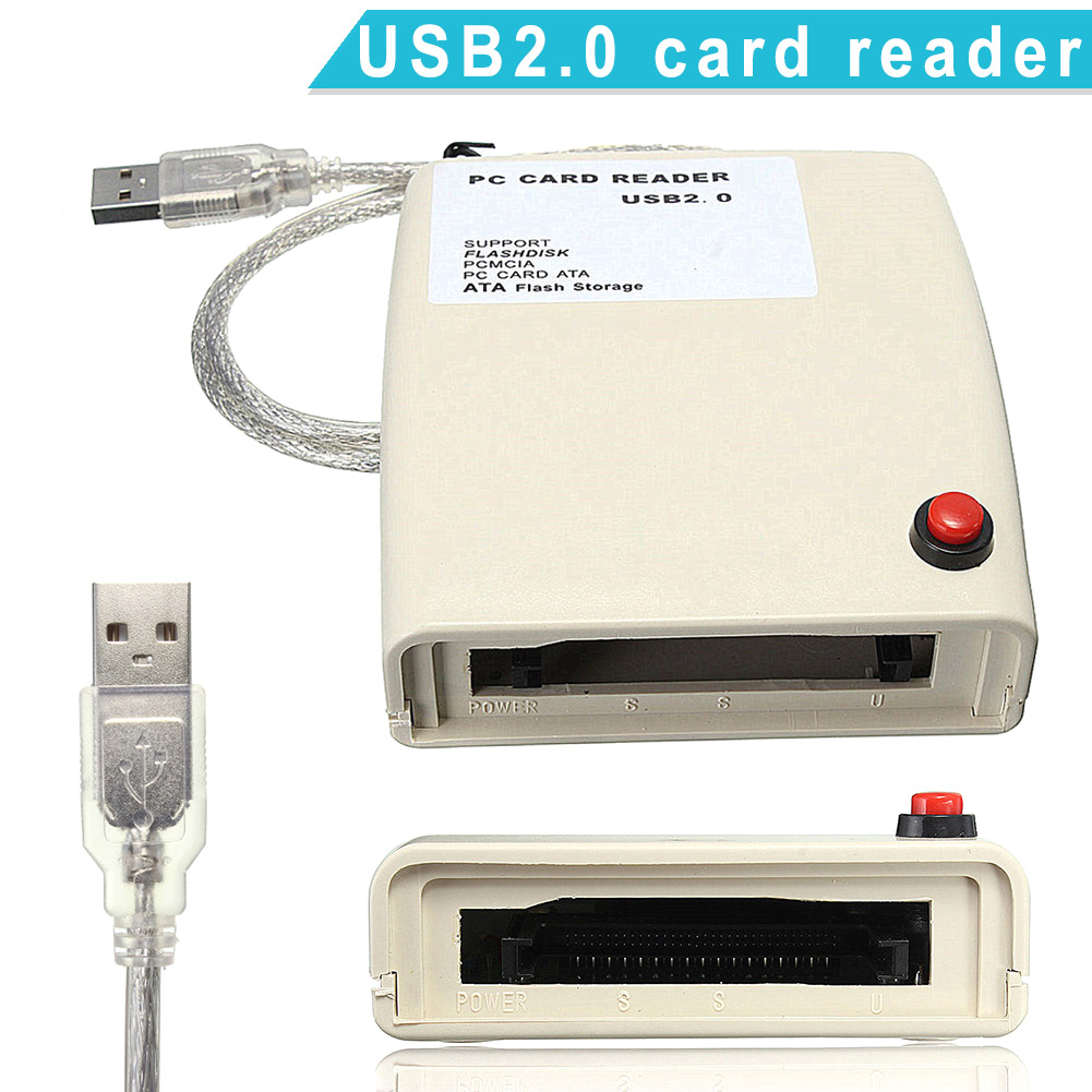 USB 2.0 to 68 Pin ATA PCMCIA Flash Disk Memory Card Reader Adapter Converter