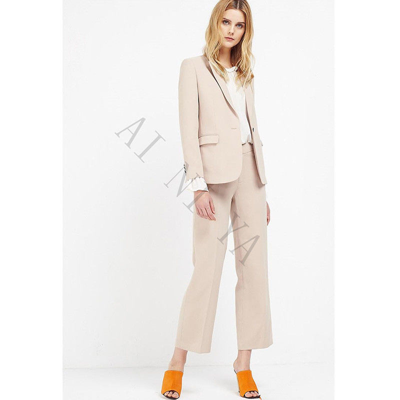 High Quality Custom Made Business Suits Office Uniform Designs Women Evening Party Suits Women Formal Pant Suits for Weddings