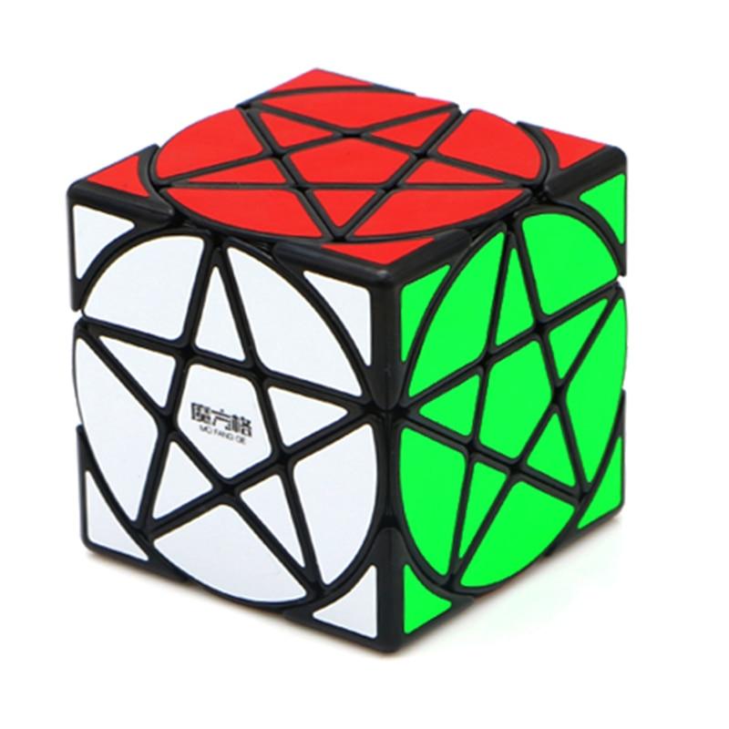 Qiyi Mofangge Pentacle Cube Strange-shape Magic Cube Black/Stickerless Speed Cube Puzzle Star Twist Cubes Toys For Children Kids