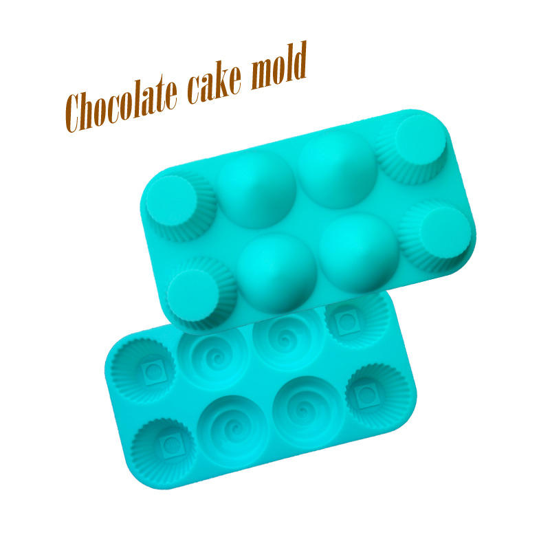 HEARTMOVE Hot Sale 8 Holes Mini Chocolate Mould Cake Tools Candy Mold Silicone Bakeware Cupcake Cake Topper 9038