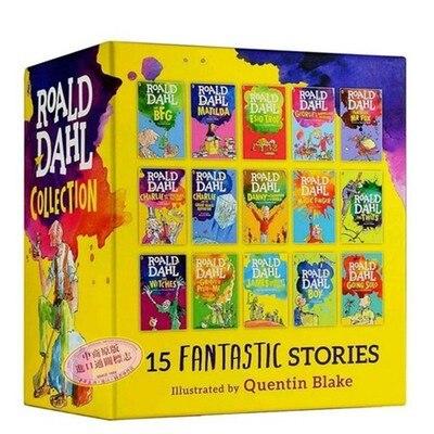 15 książek roalda dahla kolekcja dla dzieci literatury angielskiej powieści książka przygodowa zestaw wczesne Educaction do czytania dla dzieci na  Grupa 3