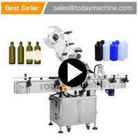 Automatic round bottle Labeling Machine for beer aluminum beverage cans plastic pail