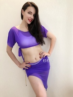 2018 woman new belly dance costumes cool summer short skirts gauze fashionable suits