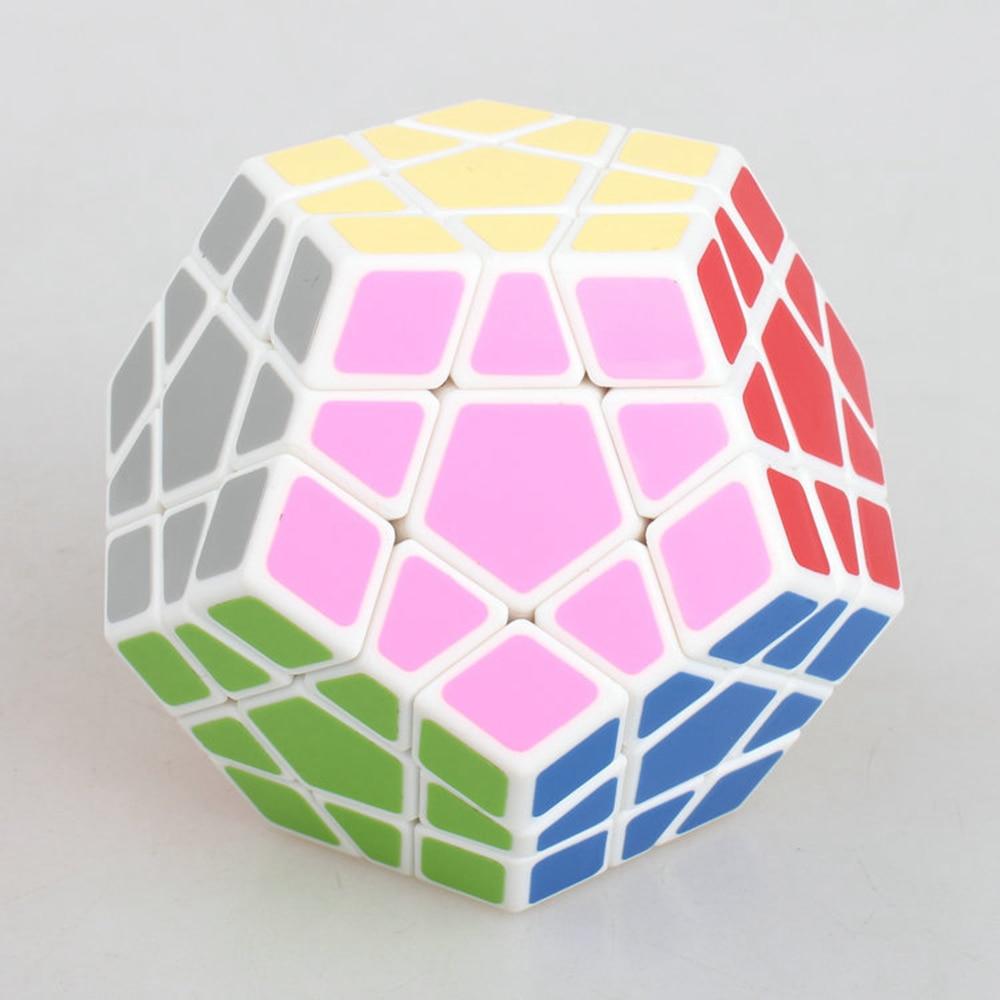 Vadonatúj Shengshou 65 mm-es műanyag sebességű puzzle Magic Cube oktatási játékok gyerekeknek - fehér