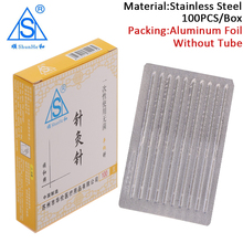 Shunhe  100 Needle Sterile Acupunture Asepsis For Skin Detox Acupuncture Needles Disposable Acupuntura Massage